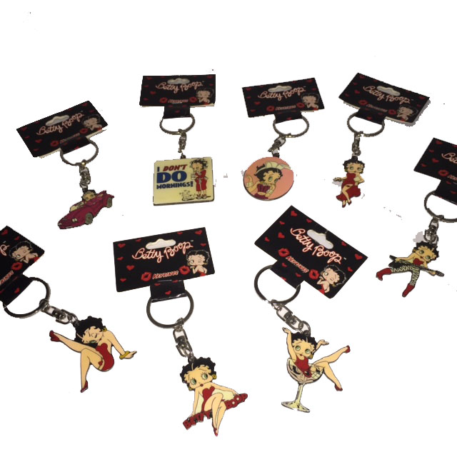 Betty Boop Timeless Dog Tag Key Chain *New*